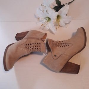 Altar'd state taupe suede ankle boots